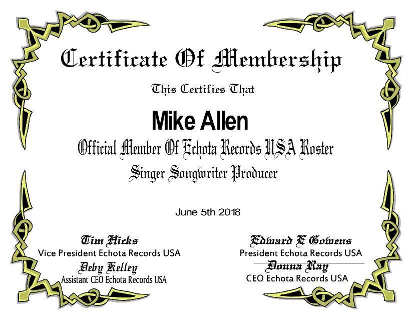 Echota Certificate
